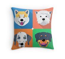 dog icon flat design  Throw Pillow