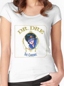 Sailor mercury- Dr. Dre The chronic  Women's Fitted Scoop T-Shirt