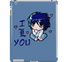 "<DEATH NOTE> L Chibi ""I Love You"" iPad Case/Skin"