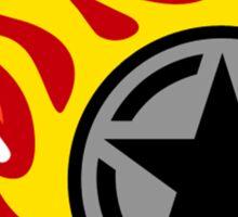 Star Decal On Fire Sticker