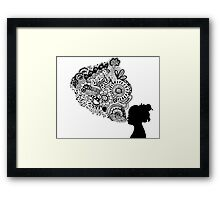 Breathe Zentangle Framed Print