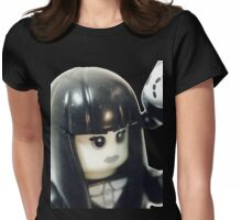 The Girl and her teddy bear Womens Fitted T-Shirt
