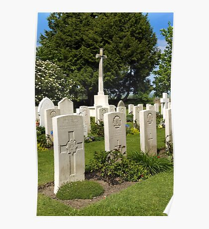 Anzac War Graves, Sutton Veny, Wiltshire, UK Poster