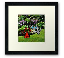 Cats In The Garden Framed Print