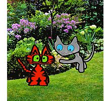 Cats In The Garden Photographic Print