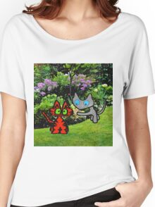 Cats In The Garden Women's Relaxed Fit T-Shirt