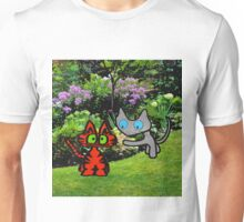 Cats In The Garden Unisex T-Shirt
