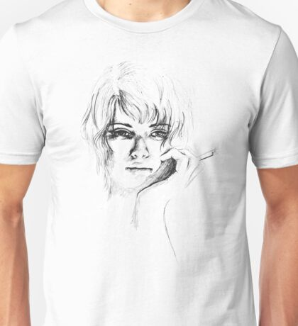 Woman with cigarette Unisex T-Shirt