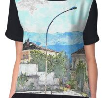L'Aquila: buildings and mountains Chiffon Top