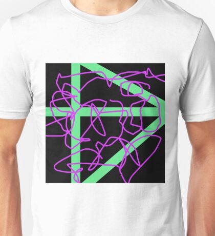 Abstract Black Green Violet Unisex T-Shirt