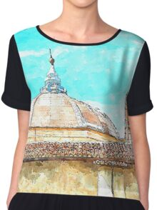 L'Aquila: dome with collapsed bell tower Chiffon Top
