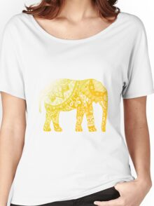 Yellow Elephant  Women's Relaxed Fit T-Shirt
