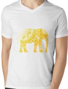 Yellow Elephant  Mens V-Neck T-Shirt