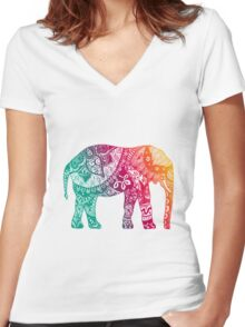 Warm Elephant Women's Fitted V-Neck T-Shirt