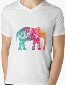 Warm Elephant Mens V-Neck T-Shirt