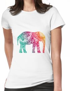 Warm Elephant Womens Fitted T-Shirt