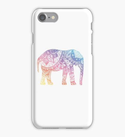 Pastel Elephant iPhone Case/Skin