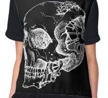Punk Skull Negative Chiffon Top