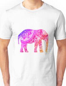 Pink and Orange Elephant Unisex T-Shirt