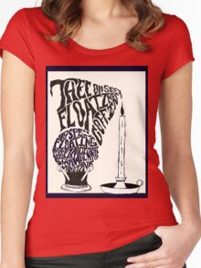 Thee oh Sees-floating coffin poster! Women's Fitted Scoop T-Shirt