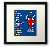 Chelsea 2012 Champions League Winners Framed Print