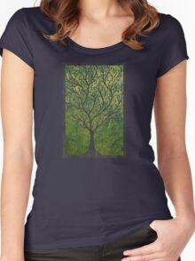Ornate elvish tree Women's Fitted Scoop T-Shirt