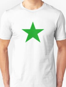 Plain Green Star Unisex T-Shirt