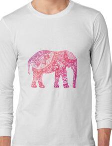 Light Pink Elephant Long Sleeve T-Shirt