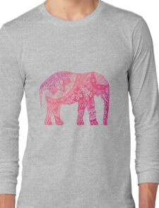 Light Pink Elephant Long Sleeve T-Shirt