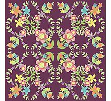 Folk Flower - Porffor Photographic Print