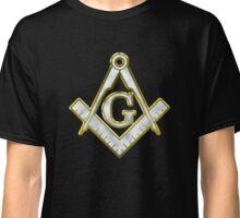 Freemason Gold Bling Logo Square Compass Classic T-Shirt