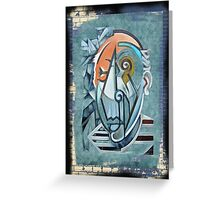picasso graffiti # 8 Greeting Card