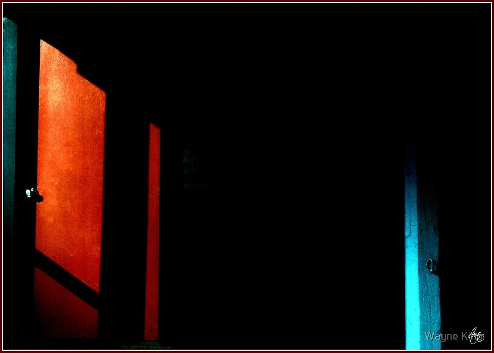 Red, Black and Blue in Shadows by Wayne King