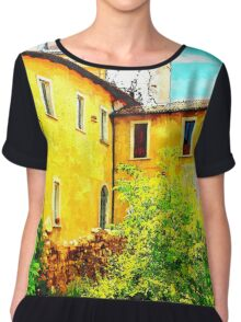 L'Aquila: yellow building with dome Chiffon Top