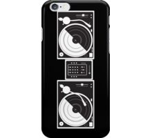 Black and White Turntables iPhone Case/Skin