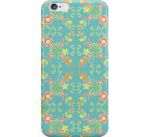 Folk Flower - Gwyrddlas iPhone Case/Skin