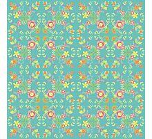 Folk Flower - Gwyrddlas Photographic Print