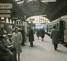 Copenhagen Railway Station 19610415 0109  by Fred Mitchell