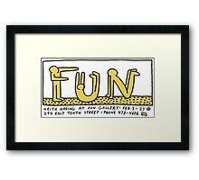 keith haring, keith, haring, graffiti, fun, art, gallery, paris, symbol, trending, parody, funny, cute, pop art. Framed Print