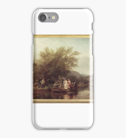Albert Fitch Bellows (American, ). Life's Day or Three Times Across the River, Noon (The Wedding Party),  iPhone Case/Skin