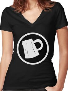 Cider Party Flat Logo Women's Fitted V-Neck T-Shirt