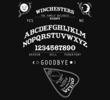 SUPERNATURAL OUIJA BOARD by HizaChu