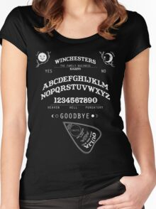 SUPERNATURAL OUIJA BOARD Women's Fitted Scoop T-Shirt