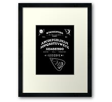 SUPERNATURAL OUIJA BOARD Framed Print