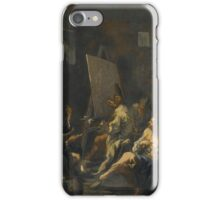 Alessandro Magnasco, called il Lissandrino AN ARTIST AT AN EASEL AND OTHER FIGURES IN AN INTERIOR iPhone Case/Skin