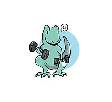 Exercise Trex: lifts Photographic Print