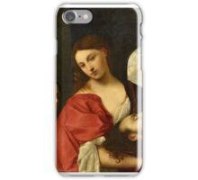 Alessandro Varotari, called Il Padovanino, attributed to, Salome with the Head of John the Baptist (after Tizian) iPhone Case/Skin