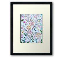 scribble garden party Framed Print