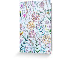 scribble garden party Greeting Card