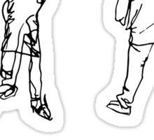 More Blind Contours Sticker